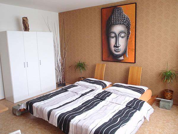Levné ubytování v Praze - Apartmán 306 - ložnice