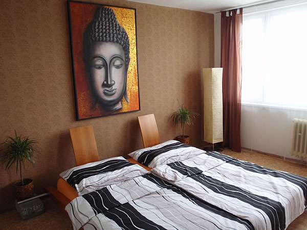Levné ubytování v Praze - Apartmán 306 - pokoj