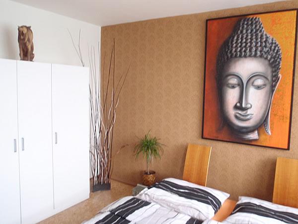Levné ubytování v Praze - Apartmán 306 - postel