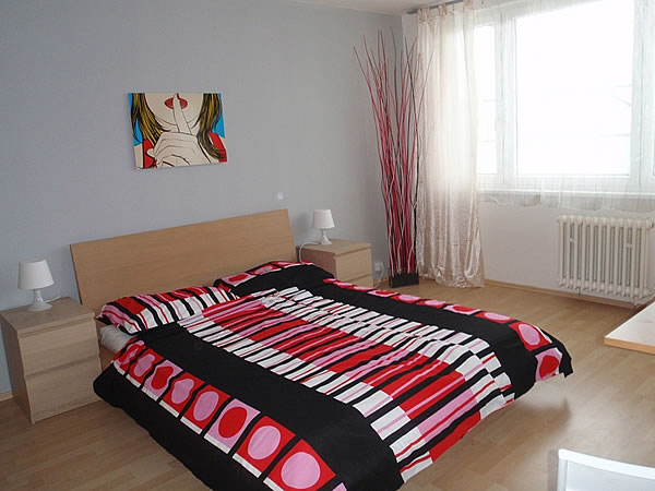 Levné ubytování v Praze - Apartmán 406 - pokoj
