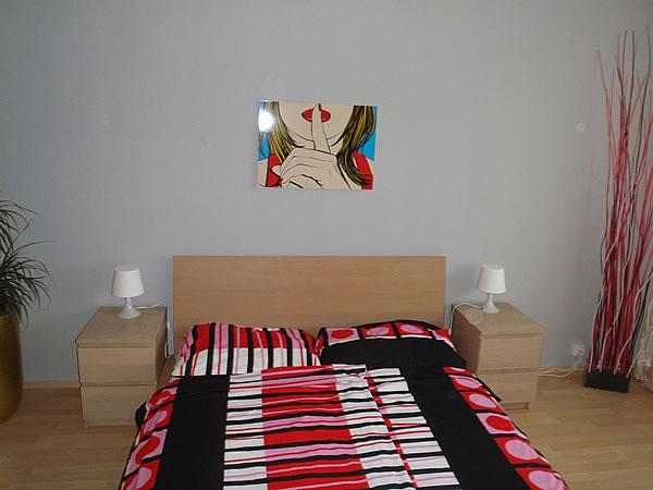 Levné ubytování v Praze - Apartmán 406 - postel